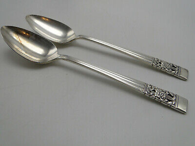 """Oneida Silver /""""Coronation/"""" 7 3//8 Inch Silverplate  Dessert//Oval Soup Spoon"""