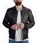 Giubbino-Uomo-di-Pelle-Nero-Chiodo-ecopelle-Giacca-Casual-Motociclista-Slim-Fit miniatura 1