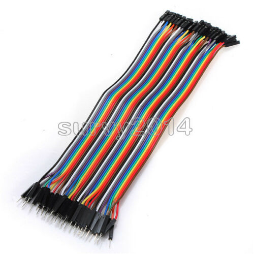 20cm 40PCS Dupont wire jumpercables 2.54MM male to female 1P-1P For Arduino