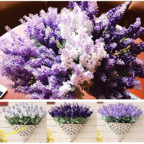 10 Heads Lavender Flowers Silk Artificial Bouquet Wedding Party Home Decor Craft