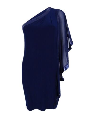 Betsy /& Adam Women/'s Sequin Batwing Cocktail Dress