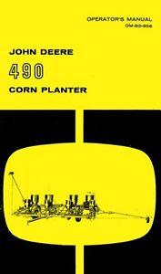 John Deere 490 Corn Planter Operators Manual Jd Ebay