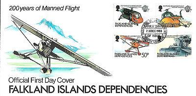 200 Years Of Manned Flight 1983 Gut Verkaufen Auf Der Ganzen Welt Fdc 200 Jahre Bemannter Flug Falkland Inseln