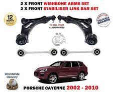 Para Porsche Cayenne Delantero 2X horquilla brazo barras de Enlace Estabilizador 2x Kit de suspensión