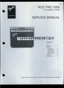 Details about Copy Fender ROC PRO 1000 1x12 Combo Guitar Amplifier Parts  List & Schematic(s)