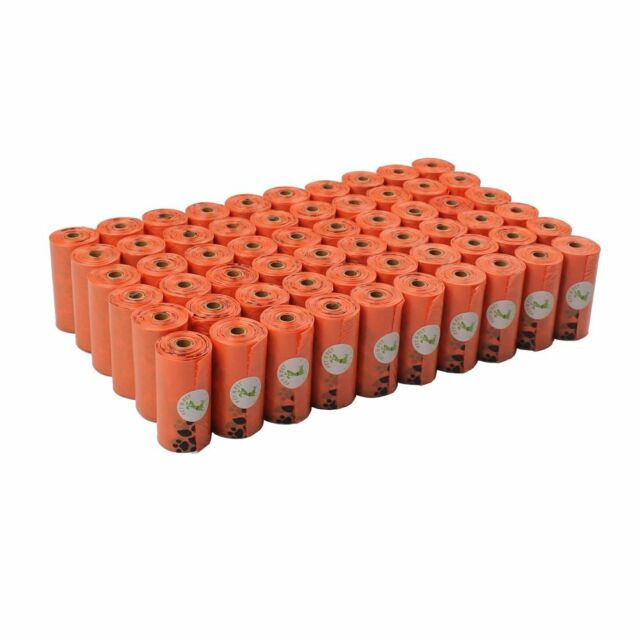 PET N PET Earth-Friendly 1080 Counts Large Orange Dog Waste Bags Unscented 60