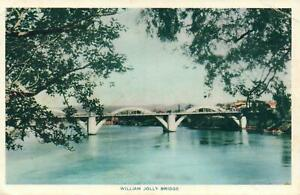 VINTAGE-WILLIAM-JOLLY-BRIDGE-BRISBANE-POSTCARD-USED-but-NOT-POSTED