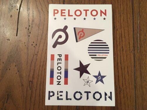 New ~ Peloton Boutique Laptop Sticker Decal Sheet ~ Cycling Bike Treadmill Tread