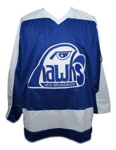 Any Name Number Size New Brunswick Hawks Custom Hockey Jersey