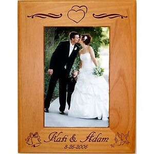 Weddings Gifts Personalized 4x6 5x7 8x10 Picture Frames Custom Anniversary Home Garden Edemia Home Decor