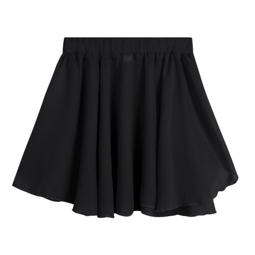 Girls Ballet Dance Tutu Skirt Chiffon Mini Wrap Skirt Classic Dancewear Dress