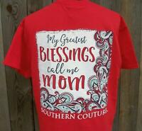 2017 Southern Couture My Greatest Blessings Call Me Mom Paisley Floral T-shirt