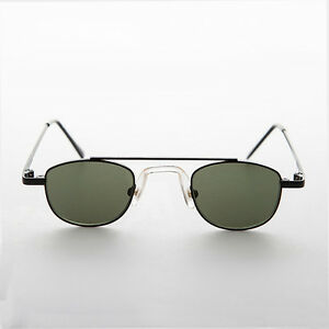 Small Square Black Metal Vintage Aviator Sunglass Spectacle - Jasper