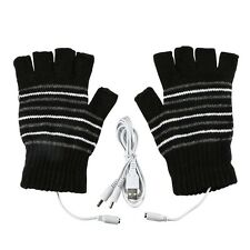 Electric Laptop 5V USB Powered Heating Heated Winter Hand Warmer Gloves Washable