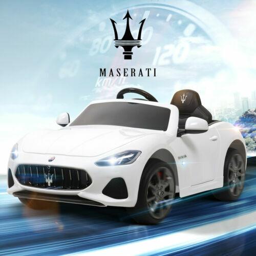 Voiture Electrique Enfant Maserati 12V avec Télécommande MP3 Suspension Blanc