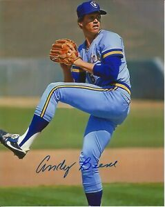 Andy Beene Autographed 8x10 Milwaukee Brewers  Free Shipping