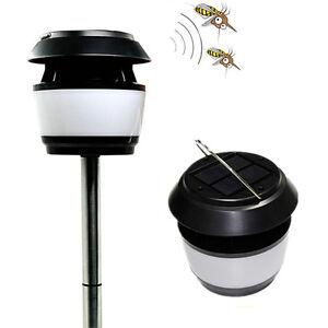 Solar Power Light Ultrasonic Mosquito Repellent Landscape Path Lights Yard Lamp
