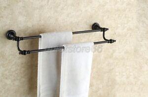 NEW-Black-Oil-Rubbed-Bronze-Double-Towel-Rails-Bathroom-Accessory-qba822