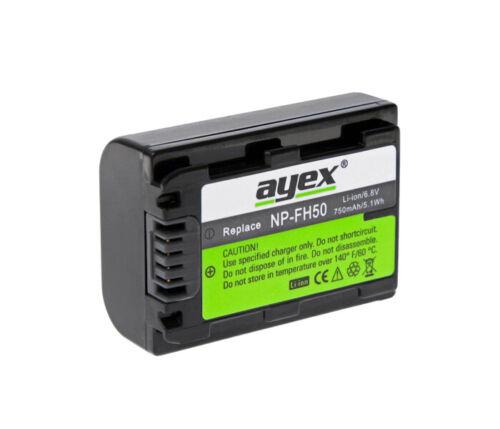 Batteria come Sony np-fh50 NPFH 50 750mah hdr-xr200v xr520v