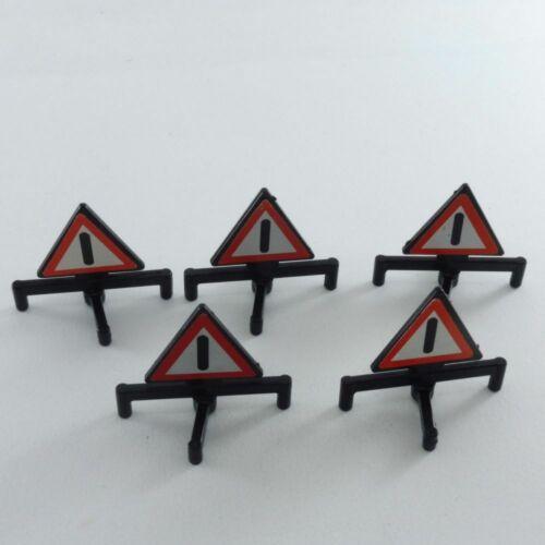 2422 Playmobil Lot de 5 triangles de signalisation