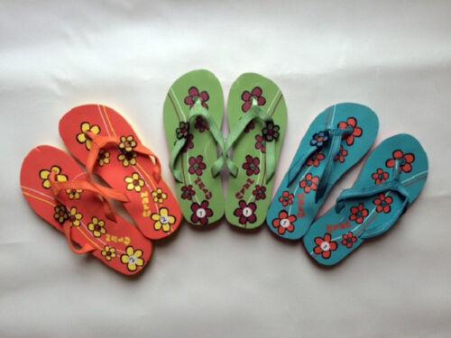 KANDY NALU GIRLS SURF HIPPY FLOWER FLIP FLOPS SANDALS 13,1,2 beach holiday kids