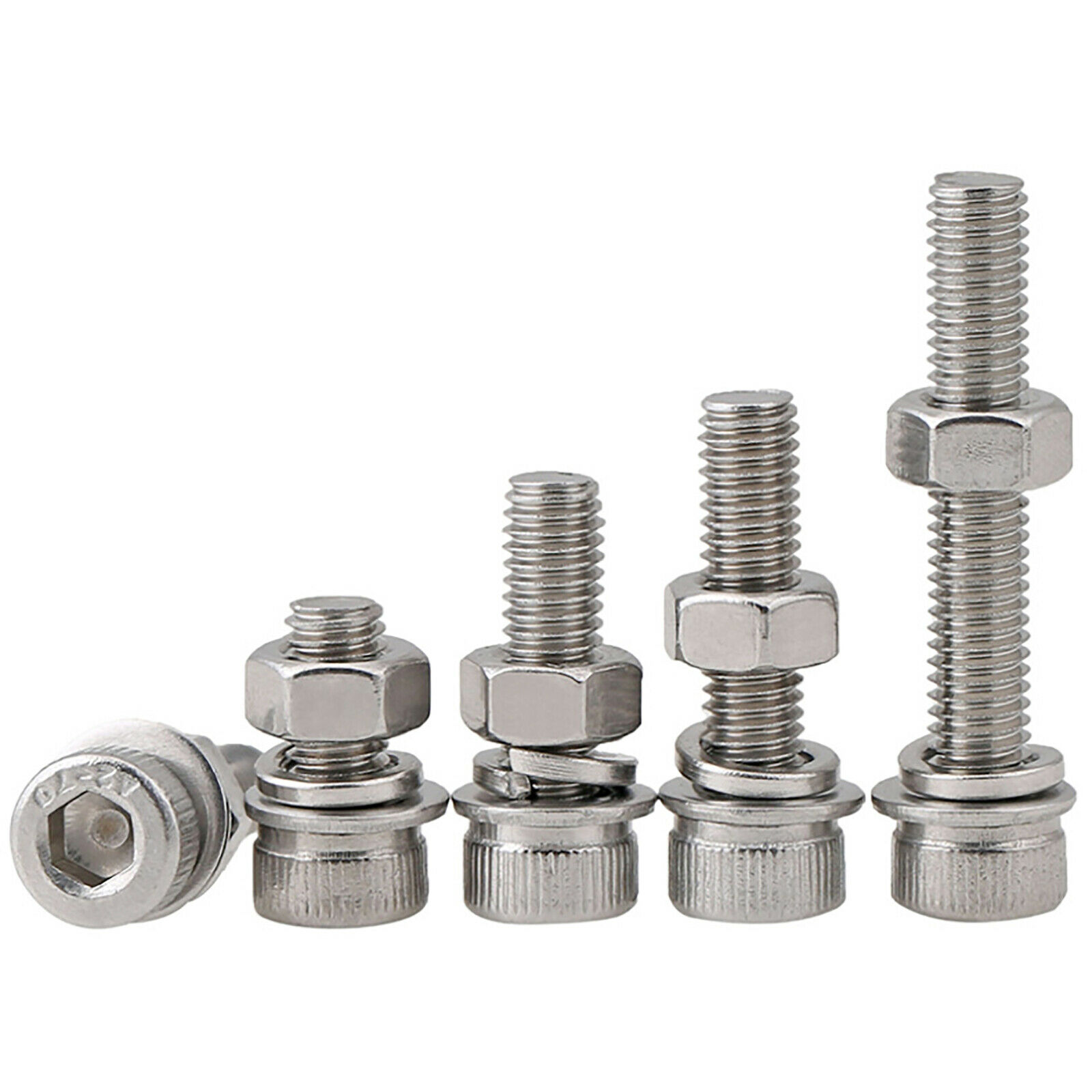 Stainless Steel Screws by Persberg Flat /& Lock Washers Kits 100 Hex Nuts+ 100 Flat /& Lock washers Nuts Machine Thread M4 Nuts washers Assortment kit, 18-8 110-120 Stainless Steel 304
