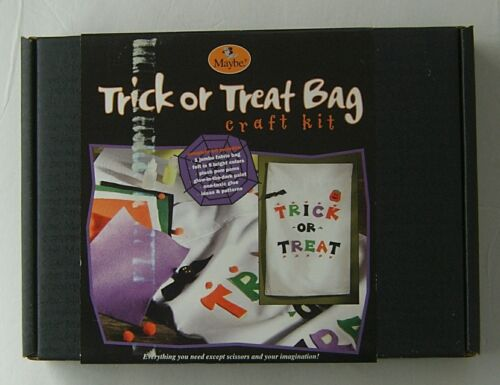 Halloween Craft Kit Trick or Treat Bag MAYBE 2002 Complete Set Jumbo Easy Fun 6+