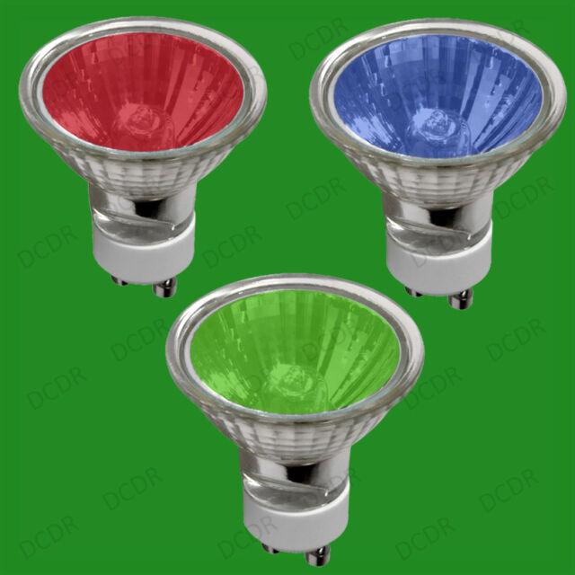 X 25 50W GU10 coloré à variation Réflecteur Halogène Ampoules Spot Éclairage