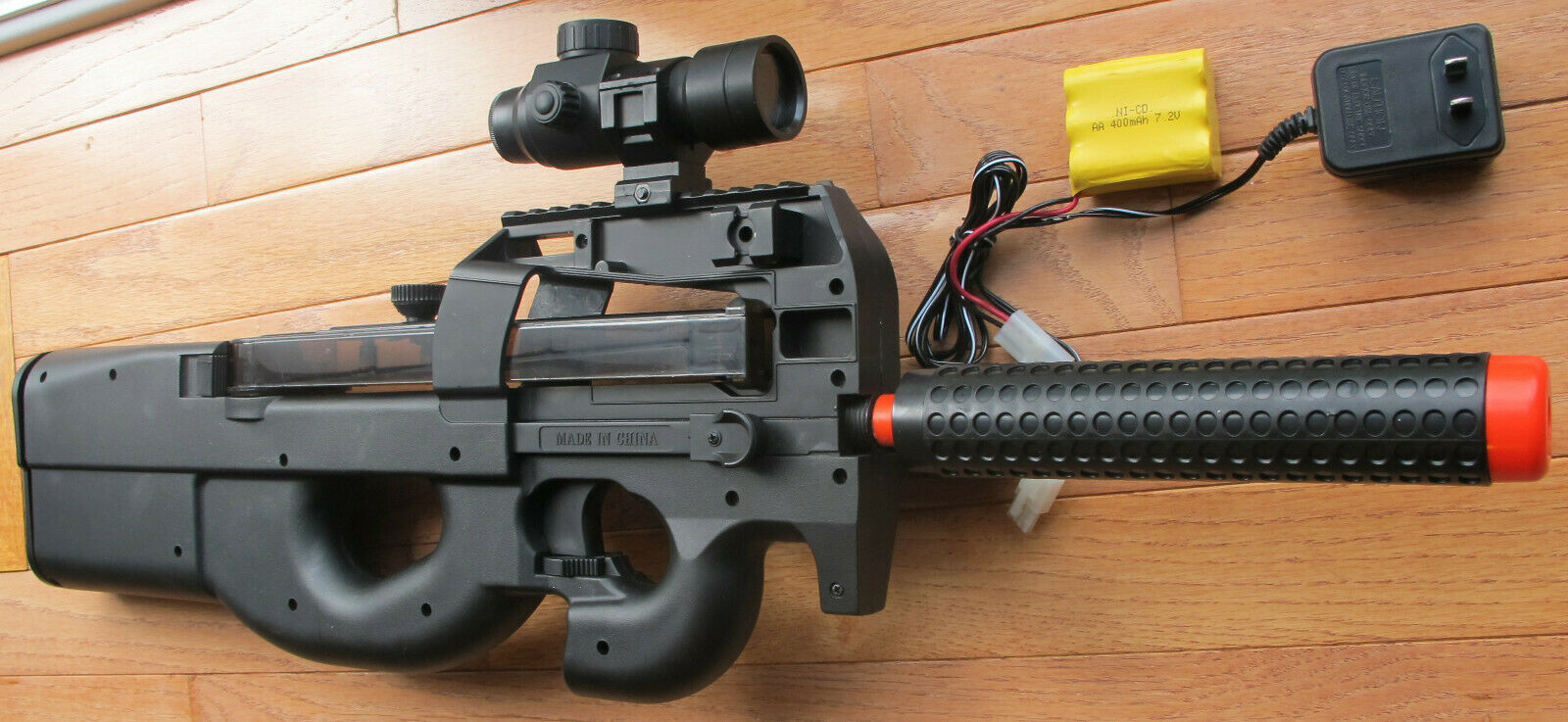 P90 Style Electric Airsoft Gun W Red Dot Scope 1000 Bbs Shoot Up To 240 Fps For Sale Online Ebay
