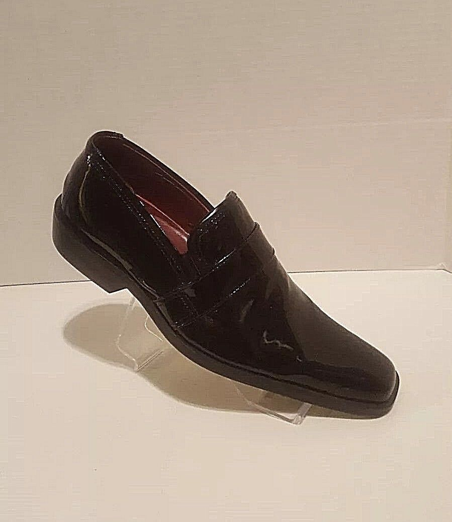 Mens Size 8.5 Black Patent Leather Loafer by Marco Delli of  Reg  95 EU41.5