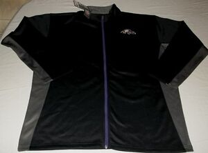 Baltimore-Ravens-Full-Zip-Track-Jacket-2XL-Purple-Grey-Two-Tone-NFL