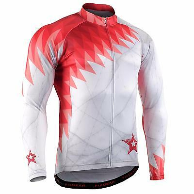 FIXGEAR CS-65R1 Men's Long Sleeve Cycling Jersey Bicycle Apparel Roadbike MTB