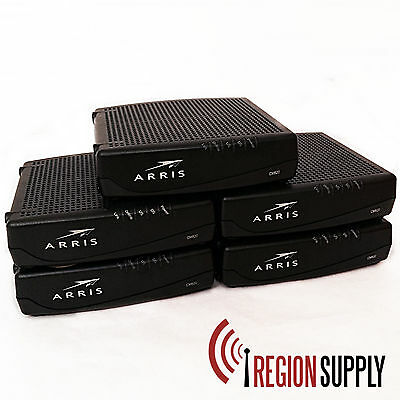 Lot of 5! - ARRIS CM820A Cable Modem Docsis 3.0 FOR PARTS! Not Working!!!