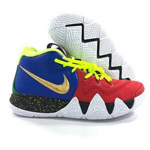 sale retailer e79ec ef30b Details about Nike Kyrie 4 By You iD Blue Red Volt Green Gold White Black  Men's 7.5 Women's 9