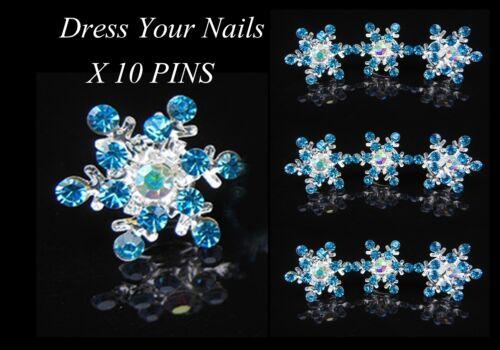 Elsa FROZEN bleu flocon de neige cheveux vrilles Accessoire de Mariage Fleur de neige-UK sbt630