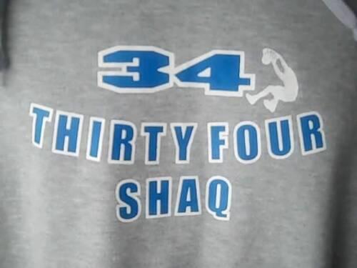 SHAQ Thirty Four Mens XL Gray Sweatshirt Hoodie Ba