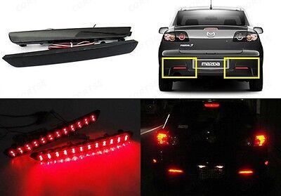 Mazda3 Axela 04-09 Black Smoked Lens Bumper Reflector LED Tail Brake Stop Light