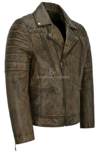 Napa New 3205 Dirty Brown pelle Biker in Motorcycle vera uomo Giacca da Style Fashion wO08AZq