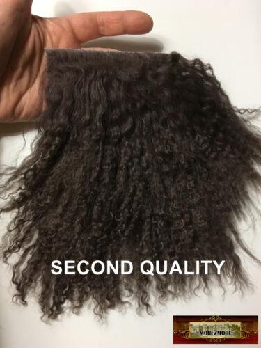 M01524 MOREZMORE Hair Tibetan Lamb Seconds DARK CHOCOLATE BROWN Doll Hair Wig