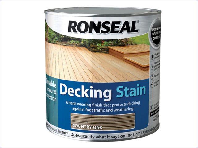 Ronseal Decking Stain. Ideal for colouring and protecting all decks