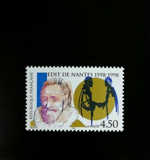 1998 France Edict of Nantes, 400th Anniversary Scott 26