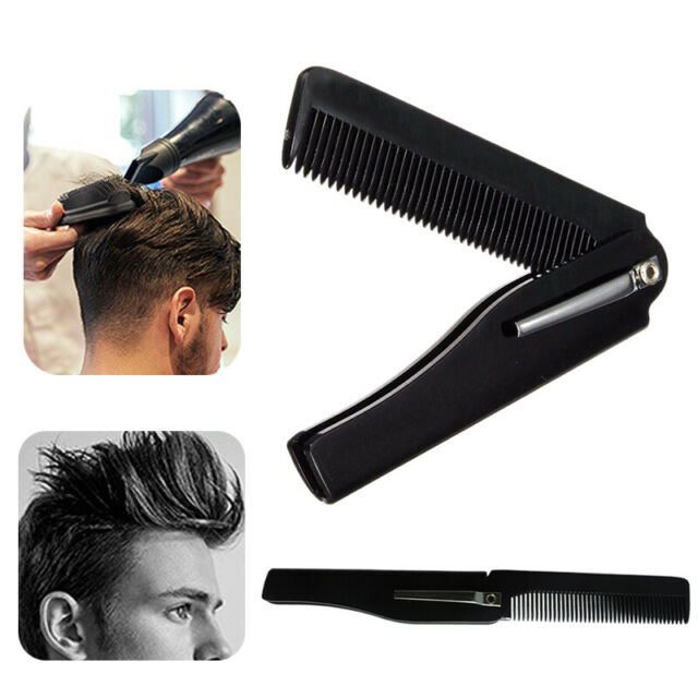 1PC Men Women Beauty Handmade Folding Pocket Clip Hair Moustache Beard Comb New