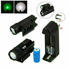 Rotlicht LED Taschenlampe Jagd Licht Military Torch Kabelschalter Rail Montieren