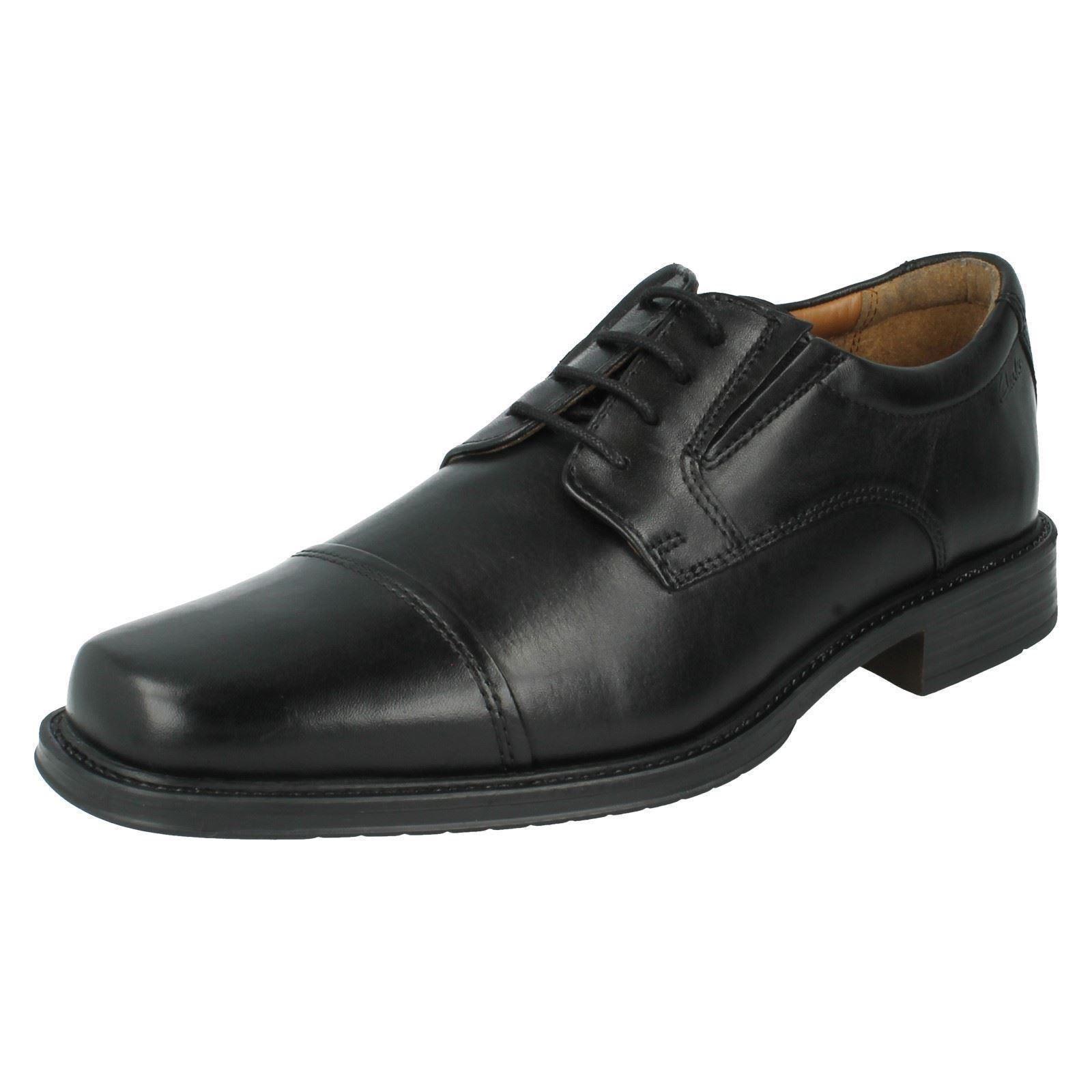 SALE Herren Clarks schwarz Leather Schnürschuhe Driggs Kappe