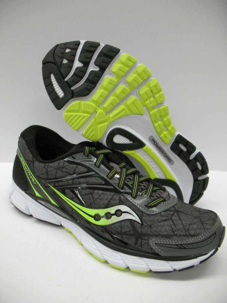New Saucony S20265-3 Breakthru Neutral Running Training Shoes Gray Citron Mens 8