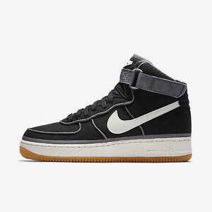 New-Men-039-s-Nike-Air-Force-1-07-High-LV8-Shoes-806403-004-Black-Sail-Gum-Brown