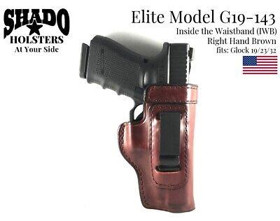 SHADO Leather Holster USA Elite Model G19-112 Left Hand Black OWB Glock 19 Brand