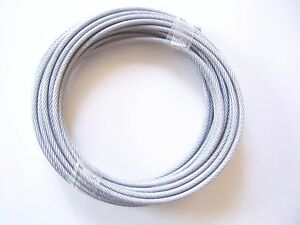 Clear Vinyl Coated Wire Rope Cable, 3/16\