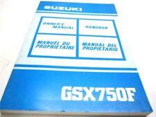 SW OEM Suzuki Katana GSX 750 GSX750F Owner/'s Manual EN SP 99011-20C52-028 FR