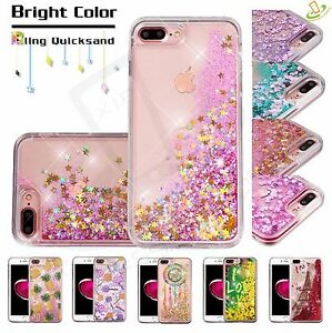 Apple-iPod-Touch-5-6-Gen-Bling-Hybrid-Liquid-Glitter-Rubber-Protector-Case-Cover
